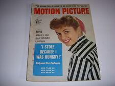 Vintage MOTION PICTURE Magazine, August, 1957, DEBBIE REYNOLDS Cover, ELVIS!