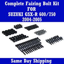 Fairing Bolt Kits Black Screws Fasteners for SUZUKI 2004 2005 GSXR 600 750