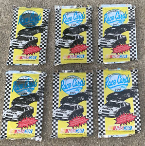 Vintage 1991 NASCAR Maxx Race Cards Lot - 6 SEALED Packs (76 total Cards) Sports