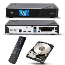 VU + ONU 4k se 1x dvb-s2 FBC TWIN Sintonizzatore Linux Sat Receiver UHD 2160p incl 2tb HDD