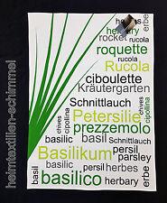 STUCO Geschirrtuch Küchentuch HERBARY Gemüse Küchenhandtuch Küchenzubehör Küche
