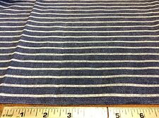 BLUE & WHITE STRIPED COTTON FABRIC- BY THE YARD