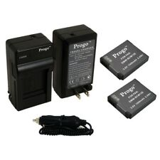 2 Battery + Charger Kit for Panasonic Lumix DMC-ZS50 DMC-ZS45 DMC-ZS40 DMC-ZS35