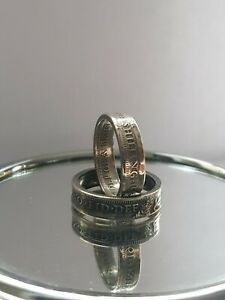1930's Coin Ring Crafted from Antique Silver Shilling Let Me Know Your Size