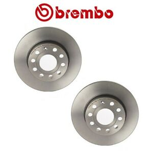 For Audi A3 VW Golf Rabbit Set of 2 Rear Disc Brake Rotor Brembo 08948811