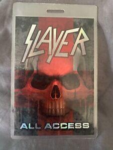 Slayer- Lamb Of God- Anthrax- Testament- Napalm Death Tour Laminate!!