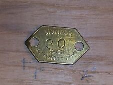Vintage Dog License Tax Tag  Pennsylvania  PA Monroe  County 1963     dg11
