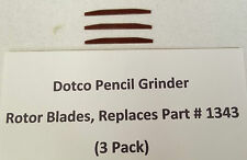 Dotco Precision Pencil Grinder Rotor Blades, Replaces Part #1343 (3 Pack)