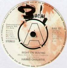 "HARRIS CHALKITIS~RIGHT ON MOVING / MORNING SUN SHINE~1974 UK ""DEMO"" 7"" SINGLE"