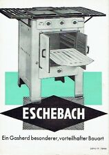 Eschebach Radeberg Prospekt Gasherd 1939 Herd