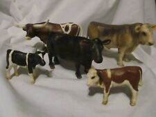 Lot of 5 Schleich Cows Bull