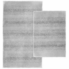 Garland Rug 2-Piece Essence Nylon Washable Bathroom Set, Platinum Gray