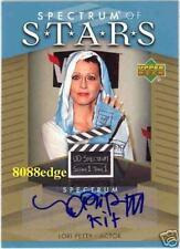 "SPECTRUM OF STARS INSCRIPTION AUTO: LORI PETTY""KIT""-BLUE AUTOGRAPH"