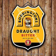 Boddingtons Bitter Beer Advertising Bar Pub Metal Pump Badge Shield Steel Sign
