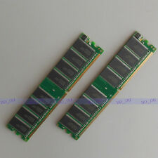 2GB 2X1GB PC2100 DDR266 266MHz DIMM Desktop memory RAM Low density for Dell DDR1