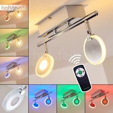 Plafonnier Lustre Lampe suspension LED Changeur de couleur Lampe de salon Chrome