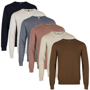 New M&S Mens Jumper Pure Cotton Crew Neck Knitted Marks & Spencer Pullover Top