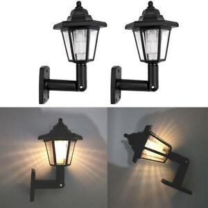 LED SOLAR POWERED WALL LANTERNS WALL SUN LIGHTS LAMP OUTDOOR GARDEN PATIO DOOR