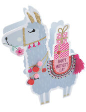 Llama Happy Mother's Day 3D Paper Dazzle Greeting Card Glitter Finished