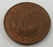 PT-37 GREAT BRITAIN 1942 HALF PENNY COIN. SEE PICTURES