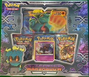 Pokemon TCG Marshadow GX Box Collection 3 Booster Packs & Promo Cards SEALED NEW