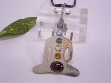 """ Buddha "" 925er Silver Pendant "" Chakra "" with Chakren Gemstones"