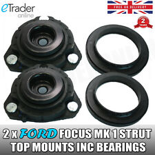 FORD FOCUS MK1 STRUT TOP MOUNT & BEARING FRONT 1998 - 2005  MOUNTS x 2 NEW
