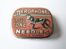 Grammophon NADELDOSE HEROPHONE - MIT NADELN ! gramophone needle tin
