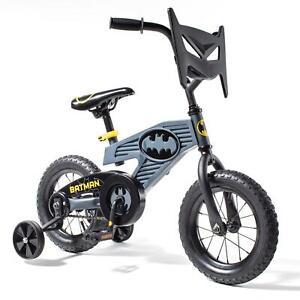 "Boys Bike With Training Wheels 12"" Kids Batman Bicycle Children Gift Riding Toys"