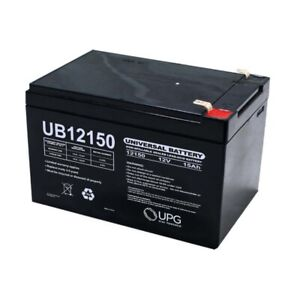 NEW UPG UB12150 12V 15AH F2 SLA Replacement Battery for Bruno Rio Travel Scooter
