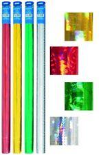 5x Hologrammfolie 33 Cm X 1 M Stylex Bucheinbandfolie Schutzhülle selbstklebend