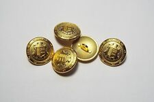 8pc 25mm Gold Heraldic Crested Metal Military Blazer Coat Cardigan Button 2835