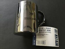 Snow Peak Logo Double Mug 330 MG-113R Wall Cup Stainless Double Camping JAPAN