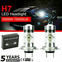 2PCS H7 LED Headlight Light Bulbs Replace HID Halogen 100W 6000K White Globes .