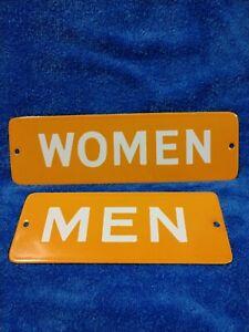Porcelain Restroom Signs