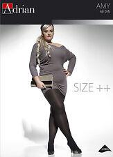 Adrian Amy Plus Size Opaque Tights 60 Denier Black 2xl