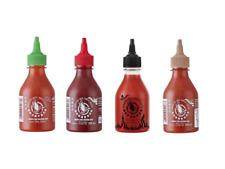 De 4 Lot Sriracha Hot Chili Sauce 4 X 200ml Piment Sauce Rouge Vert Marron Noir