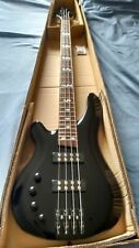 Left Handed 4 String Electric Bass Guitar With Active Pick ups Black