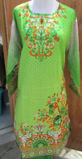 summer collection gold embroider new  design  lawn cotton pant kameez Size S 38