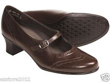 Munro American Womens Mary Janes HEELS Size 8 M Isabel Saddle Brown Kid Leather