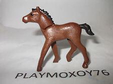 PLAYMOBIL ANIMALES. PRECIOSO POTRO MODERNO MARRÓN OSCURO DE PLAYMOBIL.