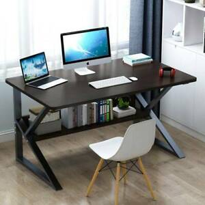 Home Office Computer Desk Study PC Writing Table Workstation Shelf WoodFurniture