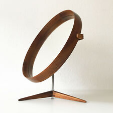 XL Mid Century TEAK TABLE MIRROR by UNO & ÖSTEN KRISTIANSSON for LUXUS, Sweden