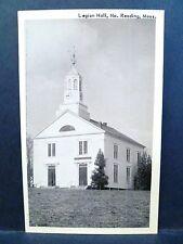 Postcard MA North Reading Legion Hall