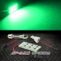 T10 6 SMD 6SMD 5050 CAR/TRUCK GREEN LED INTERIOR DOME/MAP 12V LIGHT BULB/PANEL