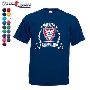 Meister T-Shirt in 17 Farben / Fussball Mallorca Meisterschaft Aufstiegsfeier