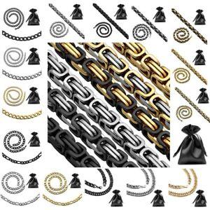 XXL Edelstahl Panzerkette Halskette Figarokette Massive Königskette Herrenkette