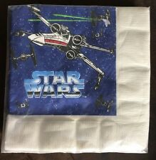 Vintage Napkins Star Wars SEALED 1997 Birthday Paper Goods Party Luncheon 16