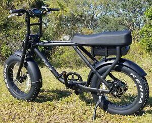 1000w Fat Tire Electric Bike - Banana Seat
