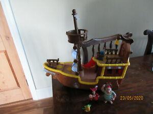 IMAGINEXT DISNEY 2011 JAKE & THE NEVERLAND SOUNDS WHEEL BUCKY PIRATE SHIP FIGURE